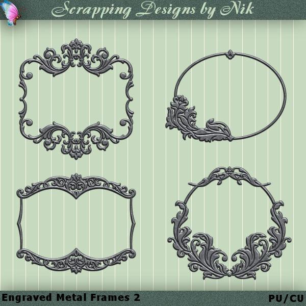 Engraved Metal Frames 2